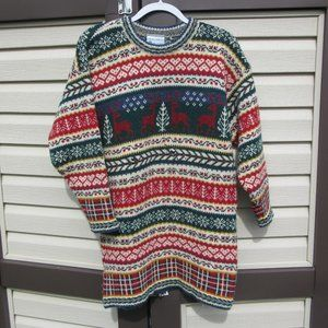 Vintage Laura Ashley Holiday Wool Sweater Tunic